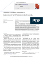 Treatment of pelvic fractures – a national survey