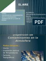 Dispersión de Contaminantes en La Atmósfera