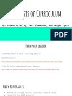 analysis of curriculum