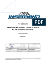 P-InSER-039 Procedimiento Uso de Equipos de Protección Personal v1