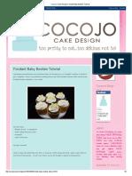 Coco Jo Cake Design_ Fondant Baby Booties Tutorial