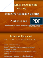 Chapter 1 Intro to Academic Writing