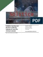 solstice members exhibitions flyer