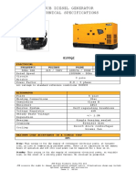 Jcb Generator- Spec 100 Kva
