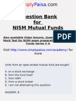 Mutual Fund NISM Question Bank