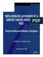 Metalogenia LaLibertad Ancash