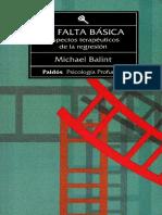 La Falta Basica, por Michael Balint