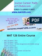 MAT 126 Course Career Path Begins Mat126dotcom