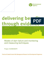 Report- Modes and Dam Failure and Monitoring and Measuring Techniques