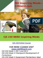 CJS 230 NERD Inspiring Minds - Cjs230nerd.com