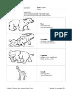 Homework - Wild Animals