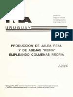 """PRODUCCIÓN DE JALEA REAL Y DE ABEJAS """"REINA"""" EMPLEANDO COLMENAS RECRÍA"""