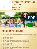 FIN 420 EXPERT Expect Success Fin420expertdotcom