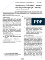 Pilot Study an Investigating Proficiency Learners Attitudes Towards English Language Learning