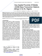 Evaluation of Geo Spatial Proximity of Mobile Communication Gsm Base Transceiver Stations to Buildings in Ile Ife Nigeria