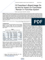 The Influence of Franchisors Brand Image on Franchisee Trust and Its Impact on Franchisee Intention to Remain in Franchise System