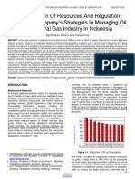 The Utilization of Resources and Regulation Along With Companys Strategies in Managing Oil and Natural Gas Industry in Indonesia