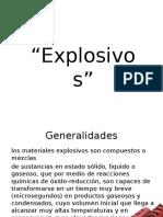 funcionamiento de explosivos