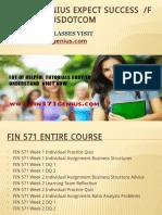 FIN 571 GENIUS Expect Success Fin571geniusdotcom