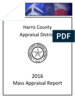 Hcad mass appraisal report 2016