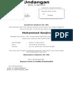 Undangan Tasmiyah 2014
