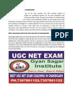 Gyan Sagar Institute Starting the Best UGC NET Coaching in Chandigarh