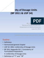 Uniformity of Dosage Units BP 2011 & USP 34