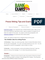 Precis Writing Tips and Examples - PDF _ Bank Exams Today