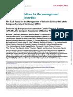 ESC Guideline for Endocarditis 2015