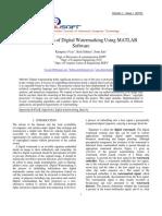 Implementation of Digital WatermarkingUsing MATLAB Software