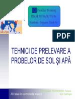 Tehnici de Prelevare a Probelor de Sol Si Apa 1