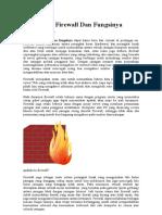 Pengertian Firewall Dan Fungsinya Terlengkap
