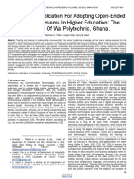 Educational Implication for Adopting Open Ended Response Systems in Higher Education the Scenario of Wa Polytechnic Ghana