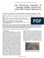 Development and Performance Evaluation of Low Hp Tractor Operated Stubble Shaver Cum Off Barring Implement With Fertilizer Metering for Sugarcane Crop