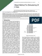 A Hybrid Nelder Mead Method for Biclustering of Gene Expression Data