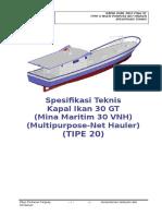 20. Spesifikasi Teknis Kapal Ikan 30 GT Tipe v - (TIPE 20).R8.AGR