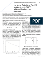 A Novel Electrical Model to Achieve the Iec Standard Impulse Waveform 60 Kv Measurable in a Normal Oscilloscope