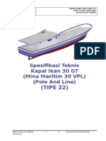 22. Spesifikasi Teknis Kapal Ikan 30 GT Tipe v - (TIPE 22).R8.AGR