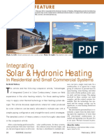 Integrating Solar & Hydronic Heating in Residential and Small Commercial Systems