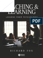 Teaching and Learning Lessons From Psychology
