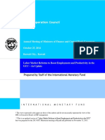 GCC-IMF 2014 Labor Market Reforms to Boost Employment and Productivity in the GCCAn Update