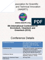 5th International Conference on Envirotech, Cleantech and Greentech (ECG)