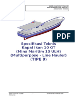 09. Spesifikasi Teknis Kapal Ikan 10 GT Tipe U - (TIPE 9)
