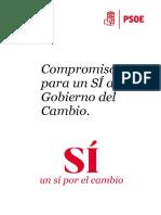 'Compromisos para un SÍ al Gobierno del Cambio'