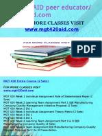 MGT 420 AID Peer Educator-mgt420aid.com