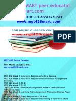 MGT 426 MART Peer Educator-mgt426mart.com