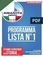 Programma Elettorale Lista N°1 Rinascita Mignanese