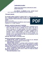 Determinarea conţinutului de sulfuri.doc