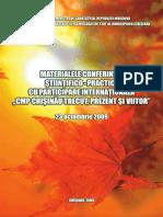 Materialele Conferintei Stiintifico-practice CMP Chisinau Trecut, Prezent Si Viitor