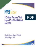 3 Factors That Impact HANA Cost